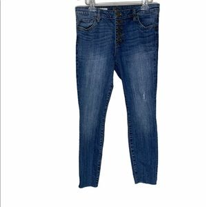 KUT from the Kloth High Rise Ankle Skinny Jeans